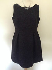 Beautiful MONSOON Blair Bow Back Brocade Dress BLACK UK 14/EU 42 - NEW with tag