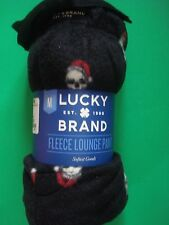 LUCKY BRAND HOLIDAY LOUNGE PAJAMA PANTS SKULL SANTA FLEECE MED NEW