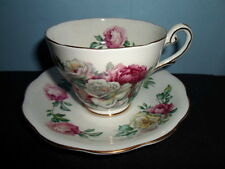 Vintage IRISH ELEGANCE Royal Standard MOSS ROSE England BONE CHINA CUP & SAUCER