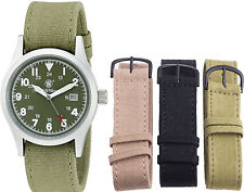 Smith & Wesson Olive Water Resistant Military Interchangeable Band Watch Set