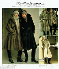 PUBLICITE ADVERTISING 036  1977  Revillon boutique fourrure manteau vison