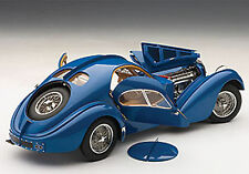Autoart BUGATTI 57SC ATLANTIC 1938 BLUE W/ METAL WIRE SPOKE WHEELS 1/18 In Stock