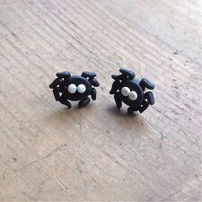 earrings Spider Studs Bugs Goth Handmade Fimo Cute Emo