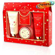 Grace Cole Wild Fig & Cranberry 4pc Toiletry Luxury Xmas Bath Gift Set For Woman