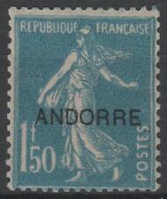 """ANDORRE FRANCAIS TIMBRE N° 13 """" SEMEUSE FOND PLEIN 1F50 BLEU"""" NEUF xx TTB K641"""