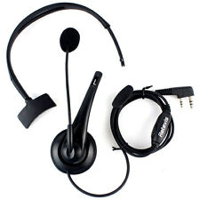 Retevis 2 PIN PTT Mic Headset Earpiece for TYT KENWOOD Baofeng Two Way Radio