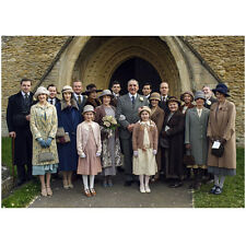 Downton Abbey Cast All Looking Wel Dressed Outside of Entrance 8 x 10 Inch Photo