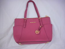 Michael Kors Jet Set Saffiano East West Top Zip Tote  Cherry  Free Shipping