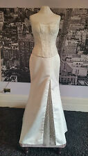 Designer Lace up Beaded Gown, Wedding or Beach Wedding, Tag says £380
