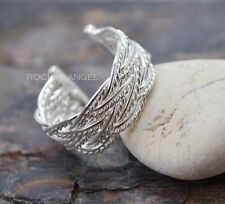 925 Silver Plated Braid Ring  / Thumb Ring Fully Adjustable - ladies gifts