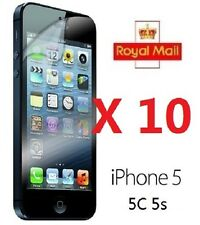 10 x APPLE IPHONE 5 5C 5S CLEAR FRONT SCREEN PROTECTOR LCD FILM FOIL GUARD Cloth