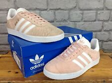 ADIDAS UK 6 EU 39 1/3 VAPOUR PINK PEACH GAZELLE OG TRAINERS MENS LADIES