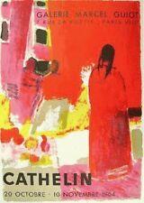 Bernard Cathelin Original Lithograph Mourlot Poster Galerie Marcel Guiot 1964
