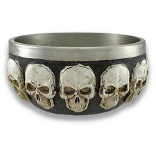 Stainless Steel Lined Skull Themed Bowl 5 Inch Diameter