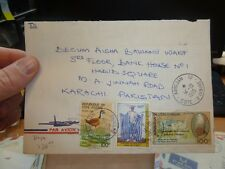 Ivory Coast 100F Pope John Paul + 2 stamps on 1985 cover to Pakistan(36bef)