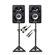 Alesis Elevate 5 Powered Desktop Studio Speakers Package inc. Stands & Cables
