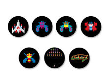 Lot Pack Badge Button Ø38mm Galaga Jeu Vidéo Arcade Retro Game