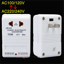 70W Universal Travel Adapter Voltage Converter 110V To 220V Power Transformer