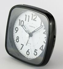 Champion Table Alarm Clock Bold Traditional Black Quartz Sweeping Non Ticking