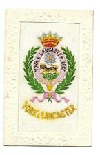 WW1 Silk Postcard The York and Lancaster Military Regiment Crest