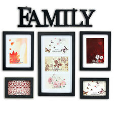 5 Aperture Multi Family Photo Picture Image Frames Art Deco Home Gift Wall Mount