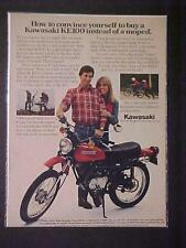 ~OLD JAPANESE KAWASAKI MOTORCYCLE JAPAN MOTOR BIKE PRINT AD~ ORIG VINTAGE 1980