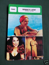 BERNADETTE LAFONT - MOVIE STAR - FILM TRADE CARD - FRENCH