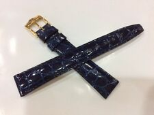 Gucci Dark Blue leather watch strap 14mm X12mm Authentic strap mint