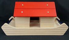 """Haba Wooden Ark Wood Toy, 16"""" wide, Building Blocks, Juat Ark, No Animals"""