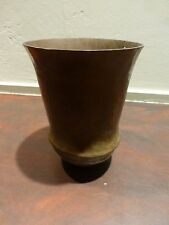 Great old art deco hammered copper vase ca. 1920, no marks found, 7""