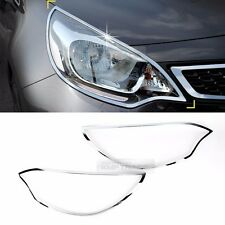 Chrome Front Head Light Lamp Molding Garnish for KIA 2012-2017 Rio Pride Sedan