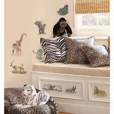SAFARI wall stickers 19 decals Zebra Giraffe Elephant Rhino Animal scrapbook