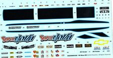 1969 NOVA SS 1/25 Waterslide Decal Sheet Drag Car black racing stripes cluster