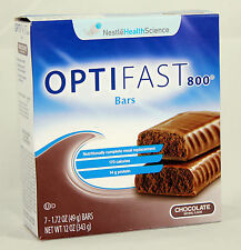OPTIFAST® 800 MEAL REPLACEMENT BAR | 6 Boxes | Chocolate Bars | 42 servings