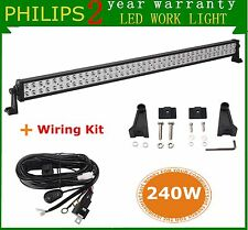 Philips 42inch 240W LED Driving Combo Work Light Bar Boat ATV with Wiring Kit US