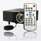 UC28 HD HDMI Portable Mini LED Projector AV VGA USB SD Home Cinema Theater Black