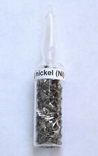 Pure nickel metal element sample in 2ml ampule - display, gift, collection