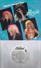POISON  I Won't Forget You  rare promo 45 with PicSleeve
