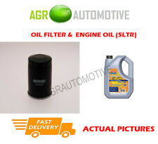PETROL OIL FILTER + LL 5W30 ENGINE OIL FOR SMART FORFOUR 1.1 75BHP 2003-06