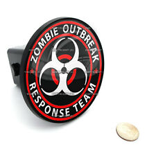 """2"""" Tow Hitch Receiver Plug Cover Insert For SUV's & Trucks - """"Zombie Outbreak"""""""