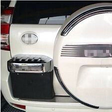 ABS Chrome Rear License plate frame trim cover For Toyota Prado Fj120 2003-2009