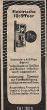 Friburgo, publicidad/visualización 1940, Theodor Kromer eléctrico. Abrepuertas tranca