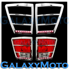 05-10 JEEP GRAND CHEROKEE Chrome Taillight Trim+Brake Red LED Bezel Cover