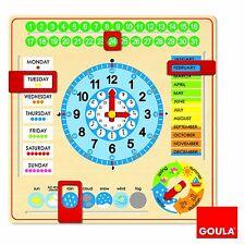 Goula De Madera Reloj Calendario Meses Años Temporada aprendizaje educativo enseñar tiempo