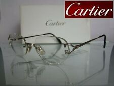 AUTHENTIC C DECOR CLASSIC CARTIER PLATINUM RIMLESS GLASSES EYEGLASSES FRAMES 53
