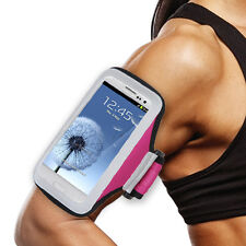 Samsung J7 Pink Sports Band Arm Holster Running Workout Gear Cell Phone Case