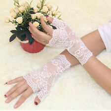 Hot 1 Pair Party Sexy Lace Women Gloves Half Finger Wrist Driving Gloves