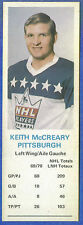 1970-71 Dad's Cookies - KEITH McCREARY - Pittsburgh  (ex-)