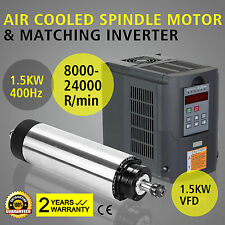 1.5KW RAFFREDDATO AD ARIA+1.5KW VFD FREQUENCY MILLING INVERTER SPINDLE MOTOR AIR