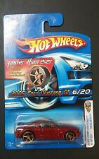 FORD MUSTANG 2005 GT 6/20 RED 2005 HW HOT WHEELS